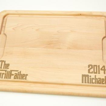 Personalized with name The GrillFather Cutting Board - Hardwood Cutting Board 12